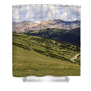view from the Trail Ridge Road. Shower Curtain