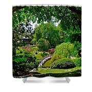 View Of A Japanese Garden Shower Curtain