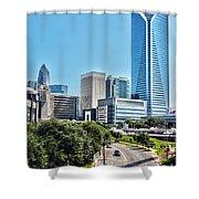 view of Charlotte North Carolina Shower Curtain