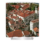 View Of Kotor Town In Montenegro Shower Curtain