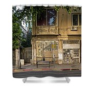 View Of Shops On The Street, Allenby Shower Curtain