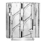 Villard De Honnecourt (c1225-1250) Shower Curtain