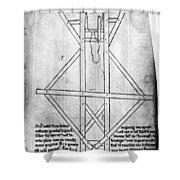 Villard De Honnecourt (c1225-c1250) Shower Curtain