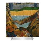 Vincent Van Gogh Painting Sunflowers Shower Curtain