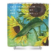 Vince's Sunflowers 1 Shower Curtain
