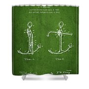 Vintage Anchor Patent Drawing From 1902 Shower Curtain