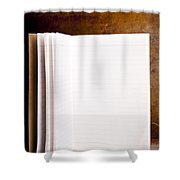 Vintage Blank Notepad Shower Curtain