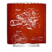 Vintage Camera Patent Drawing From 1938 Shower Curtain