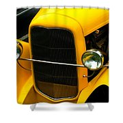Vintage Car Yellow Detail Shower Curtain