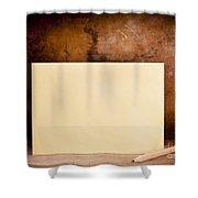 Vintage Envelope Background Shower Curtain