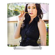 Vintage Fashion Glamour Shower Curtain