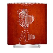 Vintage Film Camera Patent From 1948 Shower Curtain by Aged Pixel