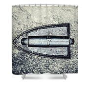 Vintage Iron With Number 7 Shower Curtain