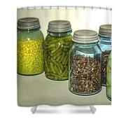 Vintage Kitchen Glass Jar Canning Shower Curtain