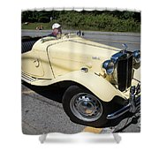 Vintage Mg Shower Curtain