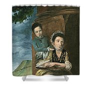 Vintage Mother And Son Shower Curtain