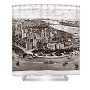 Vintage New York 1903 Shower Curtain