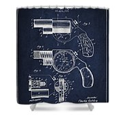 Vintage Pistol Patent From 1892 Shower Curtain