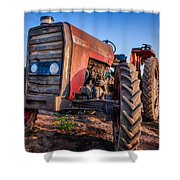 Vintage Tractor Shower Curtain