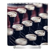 Vintage Typewriter Keys Shower Curtain