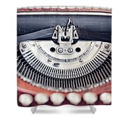 Vintage Typewriter Shower Curtain
