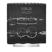 Vintage Violin Patent Drawing From 1928 Shower Curtain