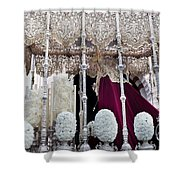 Virgin Mary In Procession Shower Curtain by Artur Bogacki