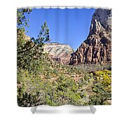 Virgin River View -zion Shower Curtain
