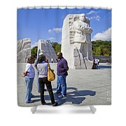 Visitors At The Martin Luther King Jr Memorial Shower Curtain