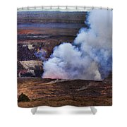 Volcano Crater Big Island Hawaii  Shower Curtain