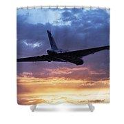 Vulcan Sunset Shower Curtain