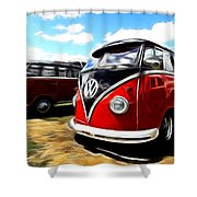 Vw Micro Bus Shower Curtain