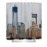 1 W T C And Lower Manhattan Shower Curtain