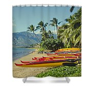Kenolio Beach Sugar Beach Kihei Maui Hawaii  Shower Curtain