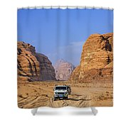 Wadi Rum In Jordan Shower Curtain by Robert Preston