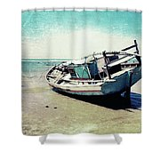 Waiting For The Tide Shower Curtain