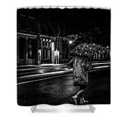 Walking In The Rain   Shower Curtain by Bob Orsillo