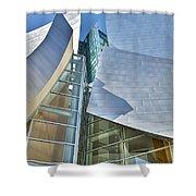 Walt Disney Concert Hall Vertical Los Angeles Ca Shower Curtain