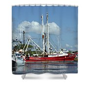 Wanchese Harbor Shower Curtain