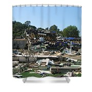 War Of The Worlds - Universal Studios Shower Curtain