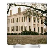 Warren Stone House In Alabama Shower Curtain