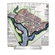 Washington, Dc, Plan, 1792 Shower Curtain