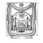 Washington Masonic Apron Shower Curtain