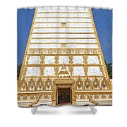 Wat Nong Bua Main Stupa Base Dthu453 Shower Curtain