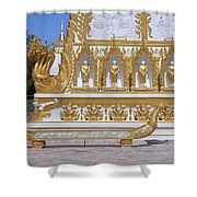 Wat Nong Bua West Side Of Main Stupa Base Dthu447 Shower Curtain
