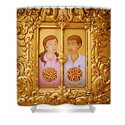 Wat Rong Khun Shower Curtain
