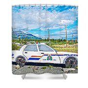 Watch Out For The Rcmp Near Destruction Bay In Yukon-canada Shower Curtain