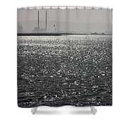 Water And Haze Shower Curtain