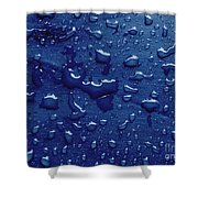 Water Drops On Metallic Surface Shower Curtain
