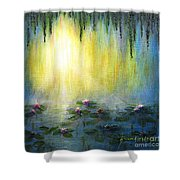 Water Lilies At Sunrise Shower Curtain